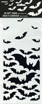Black Bats Halloween Cellophane Bags (20)